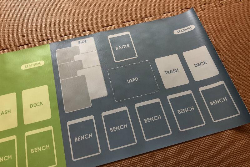 オリジナル「ポケカ一人回し用横置き型プレイマット」の全貌